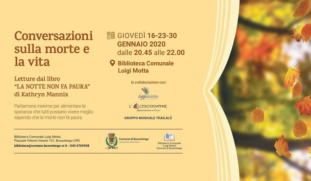 Conversazioni sulla morte a Bussolengo Verona, giovedì 30 gennaio